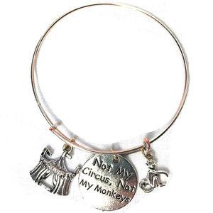Not My Circus, Not My Monkeys Dangle Bracelet